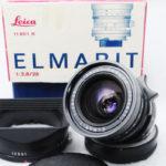 LEICA ライカ Elmarit エルマリート 28mmF2.8 M 第2世代 後期(E48・レトロタイプ・無限遠ロック無)、元箱、純正フード