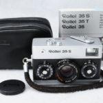 Rollei 35S Sonnar ローライ ゾナー 40mmF2.8 2.8/40 HFT シルバー+純正キャップ+ポーチ+取説