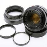 LEICA ライカ Summicron ズミクロン R 50mmf2.0 2カム + 純正メタルフード + 後キャップ + UVaフィルター