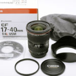 CANON キャノン EF17-40mm F4L USM 元箱、フード、付属品一式