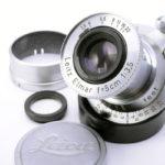 LEICA ライカ Elmar ブルーコーテッド赤エルマー 50mmF3.5 L  ダイヤマーク + フィルター + フード