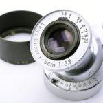 LEICA ライカ Elmar ブルーコーテッド赤エルマー 50mmF3.5 L  ダイヤマーク + フード