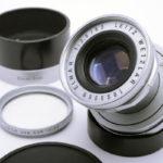 LEICA ライカ Elmar 蒼紫コーテッドエルマー 50mmF2.8 L + フード + フィルター