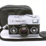 Rollei 35S Sonnar ローライ ゾナー 40mmF2.8 2.8/40 HFT シルバー+純正キャップ+ポーチ