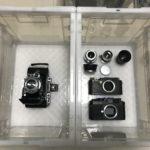 プラウベルマキナ69W Pro-shift、ライカM3、Zeiss opton Biogon 35mm f2.8、Zeiss Jena Sonnar 85mm F2.0などなどを買い取らせていただきました!