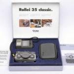 Rollei 35 Classic ローライ 35 クラシック Sonnar 40mmF2.8 2.8/40 HFT  Titan チタン+ストラップ+ポーチ+取説+元箱