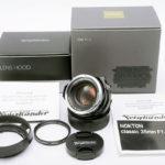 Voigtlander フォクトレンダー NOKTON ノクトン classic 35mm F1.4 VM + 純正フード + 各元箱一式