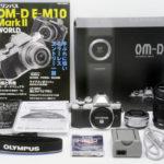 OLYMPUS オリンパス OM-D E-M10 MarkII ダブルズームキット シルバー 元箱、付属品一式