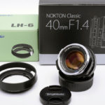 Voigtlander フォクトレンダー NOKTON ノクトン classic SC 40mm F1.4 VM + 純正フード LH-6 + 各元箱一式