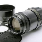 LEICA ライカ Tele-Elmarit テレエルマリート 135mm f4 + 純正フード + UVaフィルター