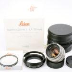 LEICA ライカ Summilux ズミルックス 35mmF1.4 第2世代 後期(Ver.2) チタン仕上げ(中村光学整備済み)+ 元箱、純正フード