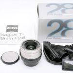 CONTAX コンタックス Carl Zeiss カールツァイス Biogon ビオゴン 28mm F2.8 T* for G1 G2