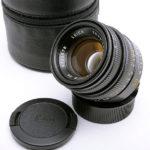 LEICA ライカ Summicron ズミクロン 50mmF2 第4世代 フード組込 ブラック[6bit] + ポーチ