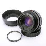 LEICA ライカ Summicron ズミクロン R 50mmf2.0 3カム + 純正メタルフード + 後キャップ