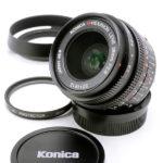 KONICA コニカ M HEXANON ヘキサノン 28mm F2.8 + UVフィルター + フード