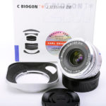 Carl Zeiss カールツァイス C Biogon ビオゴン T* 35mm F2.8 2.8/35 ZM + フィルター + 専用フード