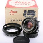 【委託】LEICA ライカ Summicron ズミクロン 35mmF2 第2世代 後期ツノ無 M 1972年 Leitz Canada製 + 元箱 + Leitz純正フード
