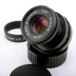 LEICA ライカ Elmar-M エルマー 沈胴 50mmF2.8 2nd ブラック + フード