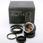 Voigtlander フォクトレンダー NOKTON classic ノクトンクラシック SC 40mm F1.4 VM + 純正フード LH-6 + 各元箱一式