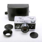 Rollei 35 Tessar ローライ テッサー 40mmF3.5 3.5/40 シルバー + 革ケース